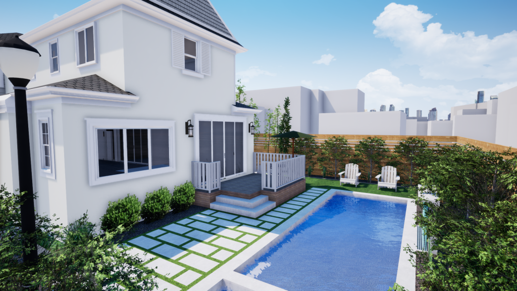 Residential Deck and Pool